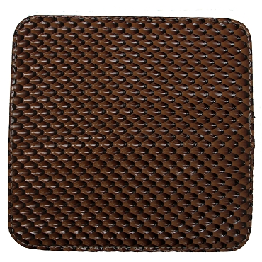 Brown 2 Shears Case w/ Snake Scale Pattern-C2PATBRN