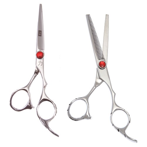 2 Pc Set 5', 5.5', 6' or 7' Straight & 35 Tooth Thinning Shears-ST55035TSET